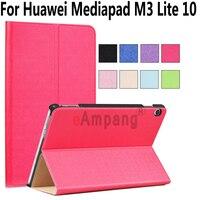 For Huawei Mediapad M3 Lite 10 Case PU Leather Magnetic Smart Wake Case For Huawei Mediapad