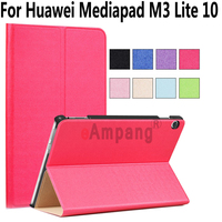 For Huawei Mediapad M3 Lite 10 Case PU Leather Magnetic Smart Wake Case For Huawei Mediapad