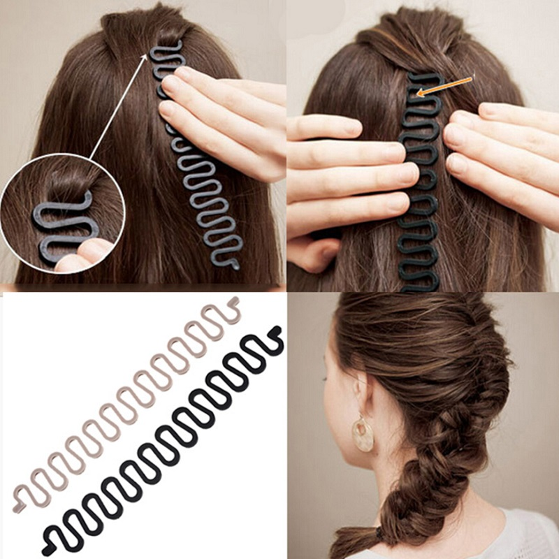 M MISM 21cm Hair Styles Maker Tress Tool Hair Accessories Bands DIY Hair Disk Easy Simple For Women Girls Sell With Card