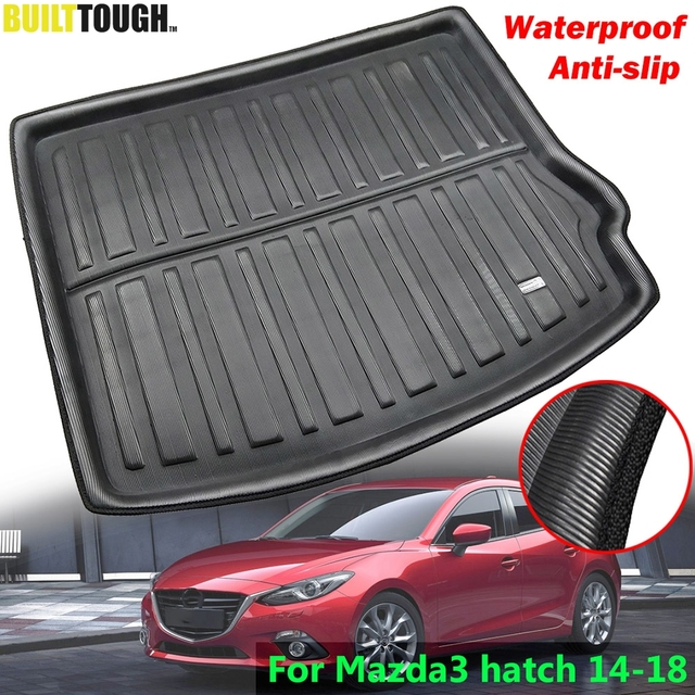 Fit For Mazda 3 Axela BM Hatch Hatchback 2014 2015 - 2018 Rear Trunk Mat Cargo Tray Boot Liner Carpet Protector Floor Pad