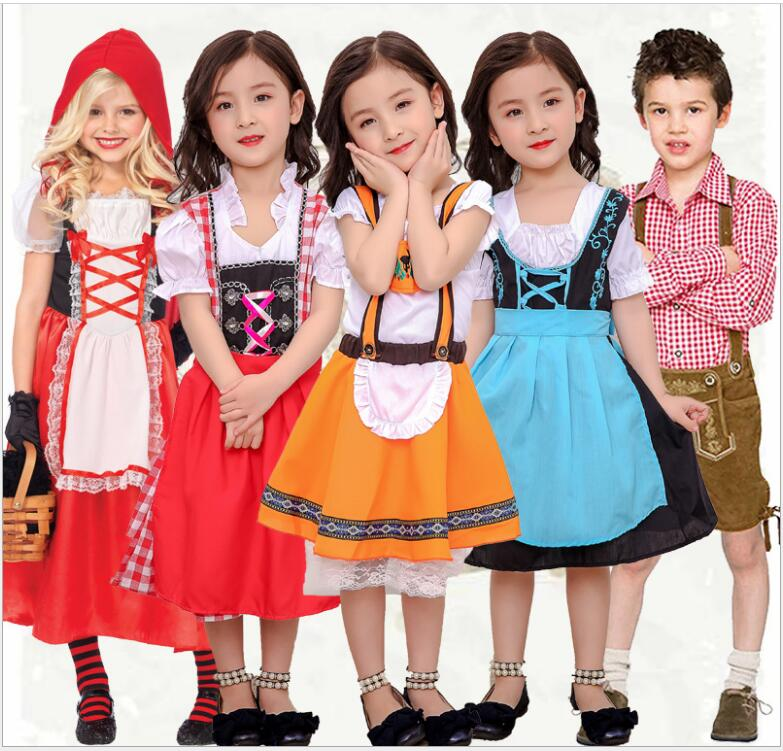 girls fairy tales clothes cute suits female children halloween kids sexy fancy dress little red riding hood costume