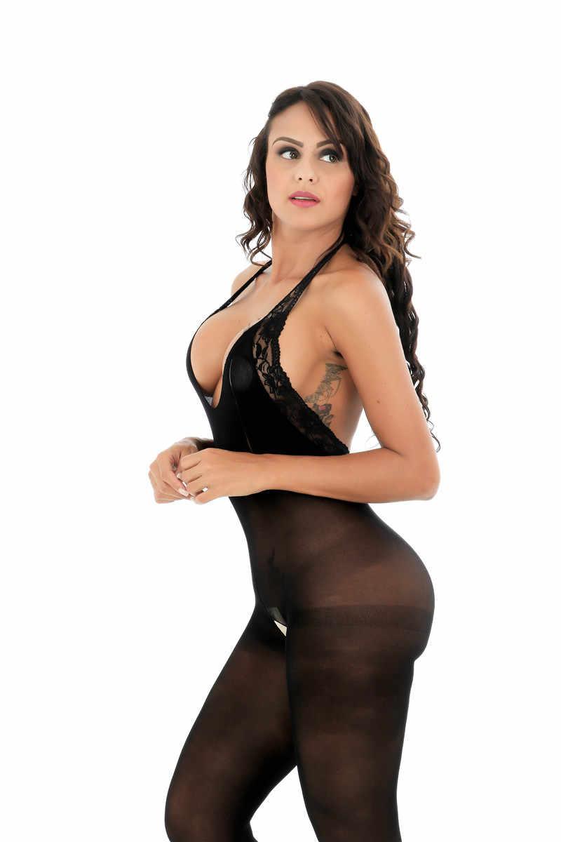 Full Body Slipsสำหรับผู้หญิงสีดำBody SlipsเปิดCrotch Hot Intimatesเซ็กซี่Slips Intimatesผู้หญิงชุดชั้นในเซ็กซี่โปร่งใส