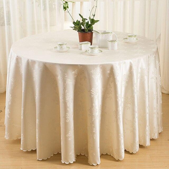 Jacquard Nappe Ronde Nappes Polyester Tissu Couverture De Table ...