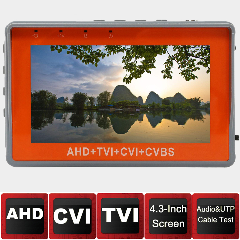 New 4.3 inch 5MP 4MP CCTV Tester AHD CVI TVI Analog CVBS in 1 Camera tester Monitor Support UPT PTZ Audio test DC12V output 3 5 inch tft led audio video security tester cctv camera monitor
