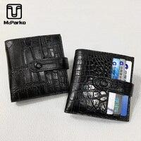 McParko Genuine Crocodile Leather Credit Card Holder Small Card Wallet Unisex Business Card Holder Wallet Slim Thin Purse