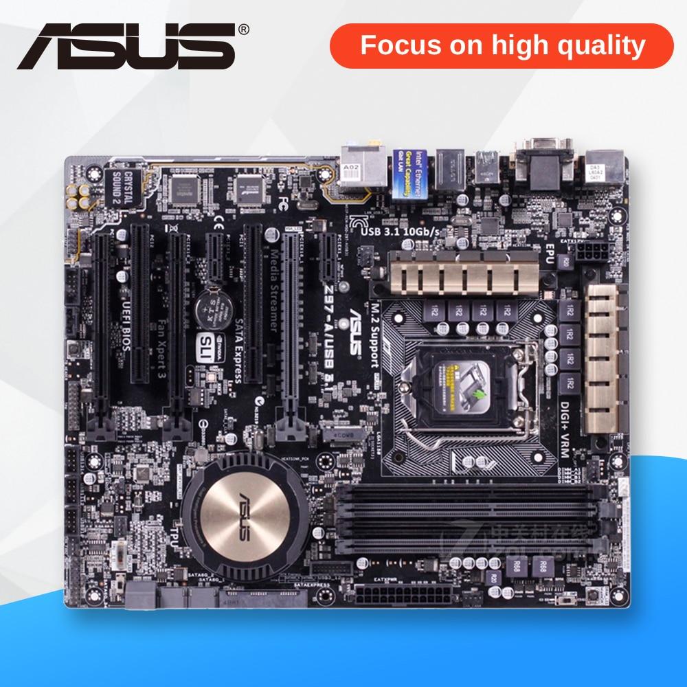Asus Z97-A/USB3.1 Desktop Motherboard Z97-A USB3.1 Z97 Socket LGA 1150 i7 i5 i3 DDR3 32G SATA3 USB3.0 ATX