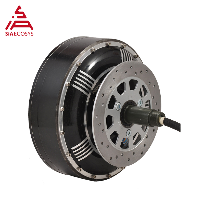 8000W 273 50H V3 72V 96V 20kW 350N.m Peak Brushless DC Gearless Electric Car In Wheel Hub Motor
