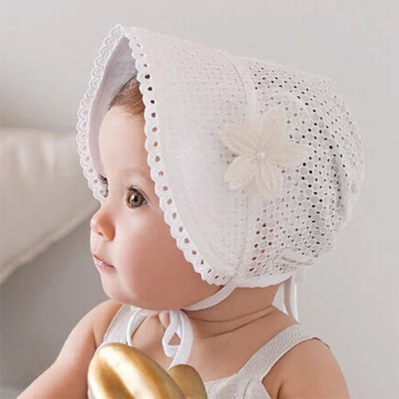 8ddbe2904d1 2017 Children Cap Summer Breathable Lace Pompom Baby Hat Crochet Pattern  Visors Cap for Newborn Girls Toddler Cute Baby Hat -in Hats   Caps from  Mother ...