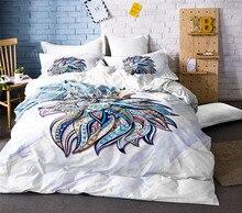 100%cotton 3D Animal Lion Bedding Bed Sheet Set Bedclothes Duvet Cover Sets