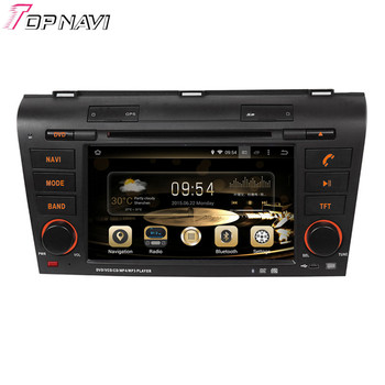 Topnavi 7'' Brand Quad Core Android 6.0 Car GPS Navigation for MAZDA 3 2004 2005 2006 2007 2008 2009 Autoradio Navigation Audio image