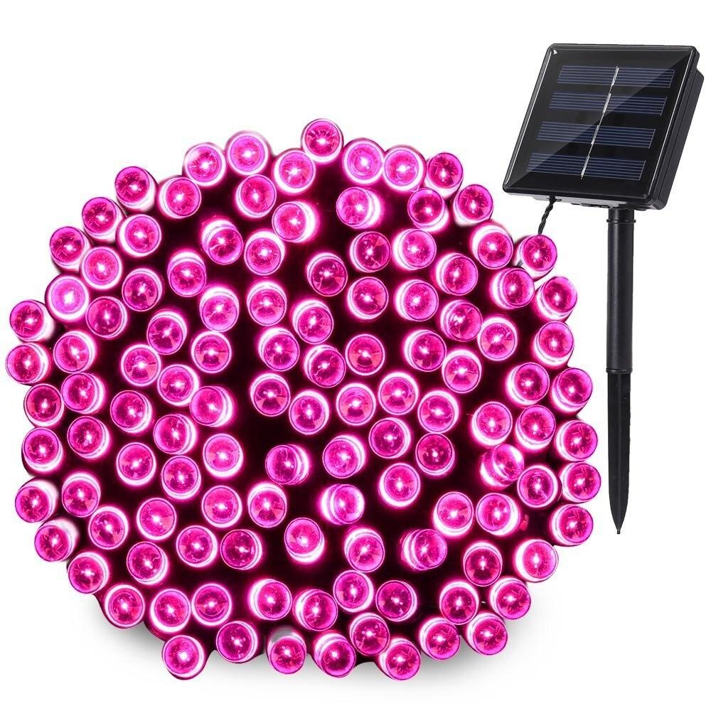 LED Solar Christmas Lights 22m 200 LEDs Solar Fairy Outdoor String Lights 8 Modes for Gardens, Wedding Waterproof neon lamp