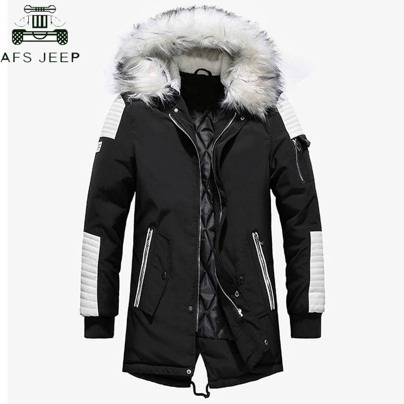 Winter Jacket Men Thicken Warm Parkas Men Casual Long Outwear Hooded Collar Jackets Coats Parkas Hombre Invierno Dropshipping