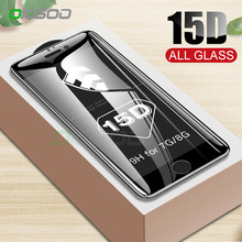 OICGOO 15D Tempered Glass on For Apple iPhone 7 8 Screen Protector Xr X Xs Max P