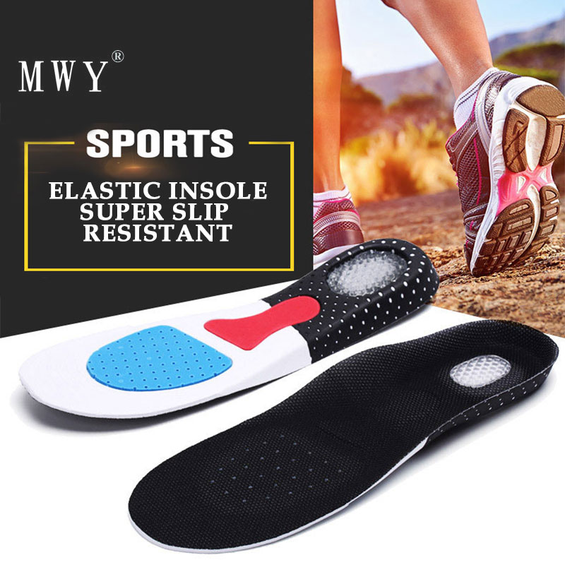 MWY Women Insoles Arch Support Sport Shoes Pad Man Running Gel Insoles Unisex Cushion Non Slip Silicone Insole Palmilha Sneakers soumit 5 colors professional yoga socks insoles ballet non slip five finger toe sport pilates massaging socks insole for women