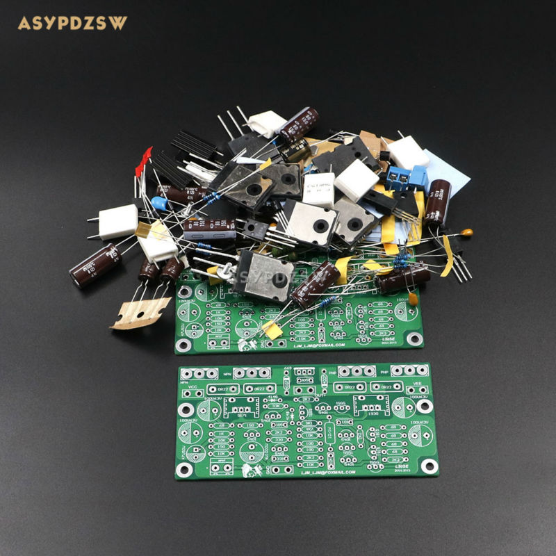 2 Channel L20 SE Power amplifier DIY Kit Transistor amplifier kit A1943 C5200 350W+350W туника лауме стиль галла цвет васильковый