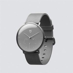 Image 4 - Xiaomi Mijia クォーツスマート腕時計 3ATM 防水歩数計ステンレス鋼ケースインテリジェント振動腕時計防水ギフト