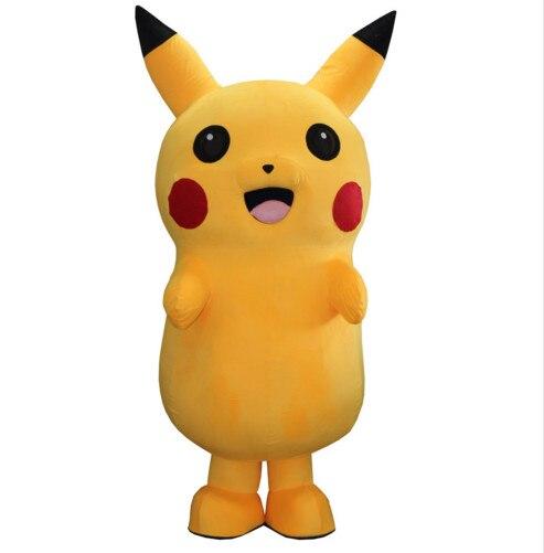 Haute qualité nouveauté adulte Pikachu mascotte Costume fantaisie robe Costume dessin animé mascotte dessin animé poupée vêtements le Costume de mascotte