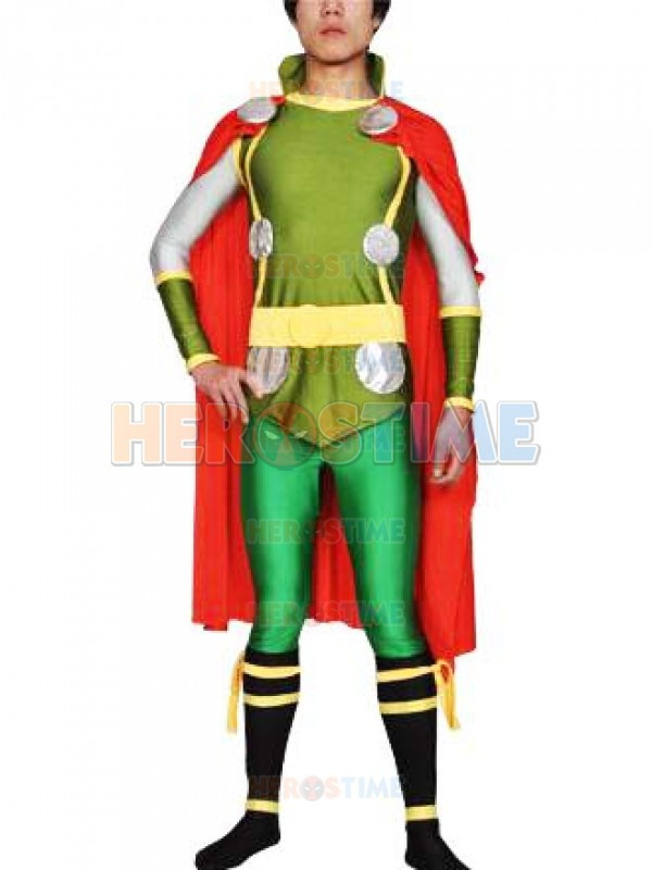The Avengers Thor Costume hot sale Spandex Superhero halloween cosplay party zentai suit free shipping