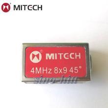 Mitech 45 градусов, с 4мя фазами МГц 8x9 мм угол луча контактный датчик для ультразвукового дефектоскопа