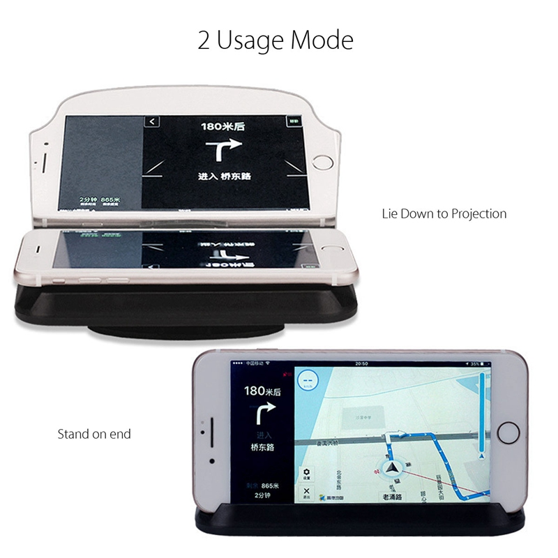 Enhanced Edition Universal Mobile Phone HUD Head Up Display GPS Car Holder Navigation Projection Stand For iPhone For Huawei