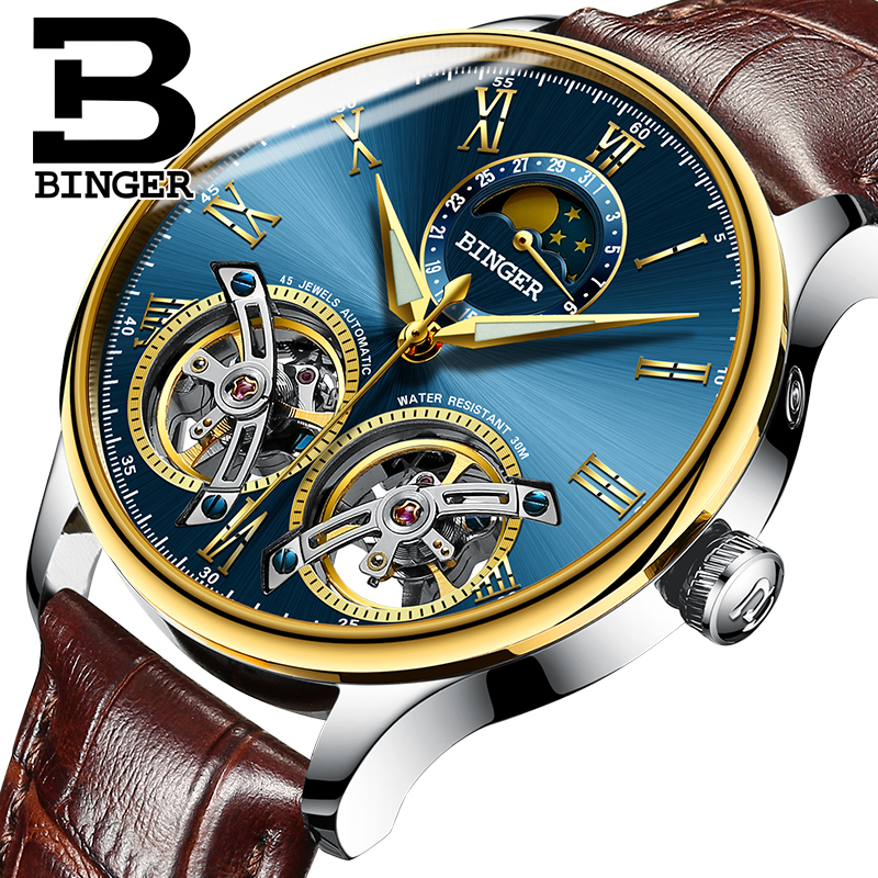 2017 Switzerland Mechanical Men Watches Binger Role Luxury Brand Skeleton Wrist Sapphire Waterproof Watch Men Clock Male10 switzerland mechanical men watches binger luxury brand skeleton wrist waterproof watch men sapphire male reloj hombre b1175g 1