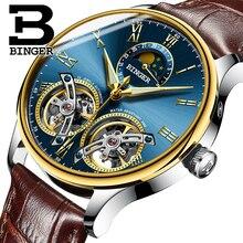 Switzerland watches men luxury brand BINGER sapphire Water Resistant toubillon full steel Mechanical Wristwatches B-8606MN-10