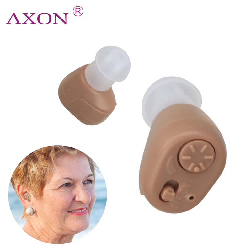 AXON K-86 Hearing Aid Sound Amplifier Volume Adjustable Mini Personal Invisible Hearing Aid Hear Clear for Loss Elder