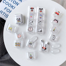 Case for airpods Cute Earphone For AirPods Cover Cartoon Wireless Accessories Airpods Transparent Hard PC