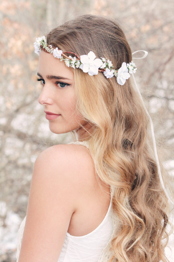 Bridal Hair Acessories Cherry Blossom Flower Crown