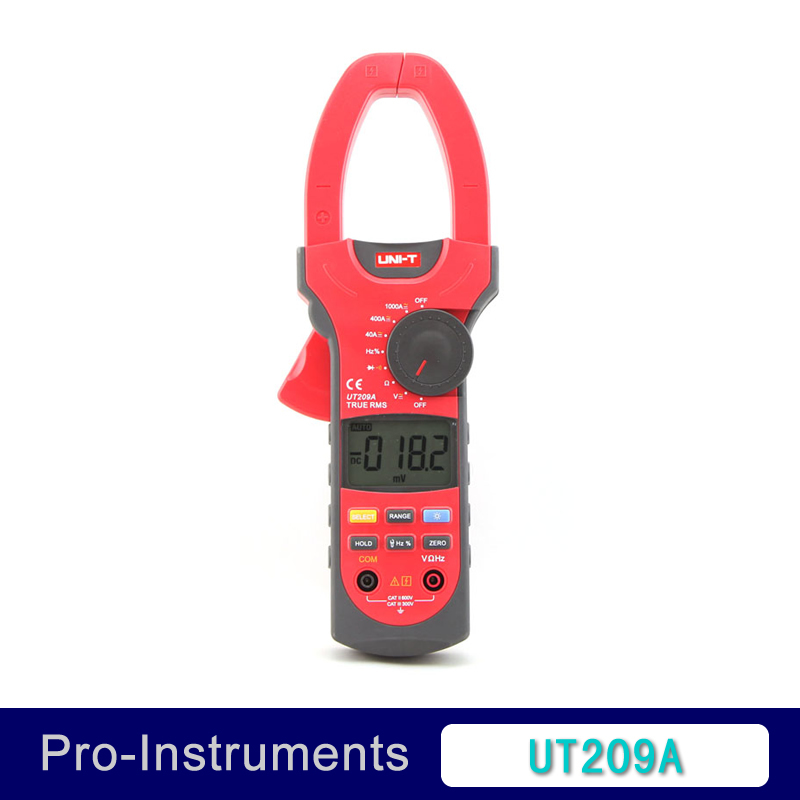 UNI-T UT209A True RMS Digital Clamp on Meter Multifunction Auto Range Multimeter ACDC Voltage Current TEMPERATURE Tester DMM my68 handheld auto range digital multimeter dmm w capacitance frequency