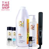 Кератин и шампунь для волос, подарок, плоское железо и аргановое масло, ежедневный шампунь и кондиционер для волос, бесплатная доставка, луч