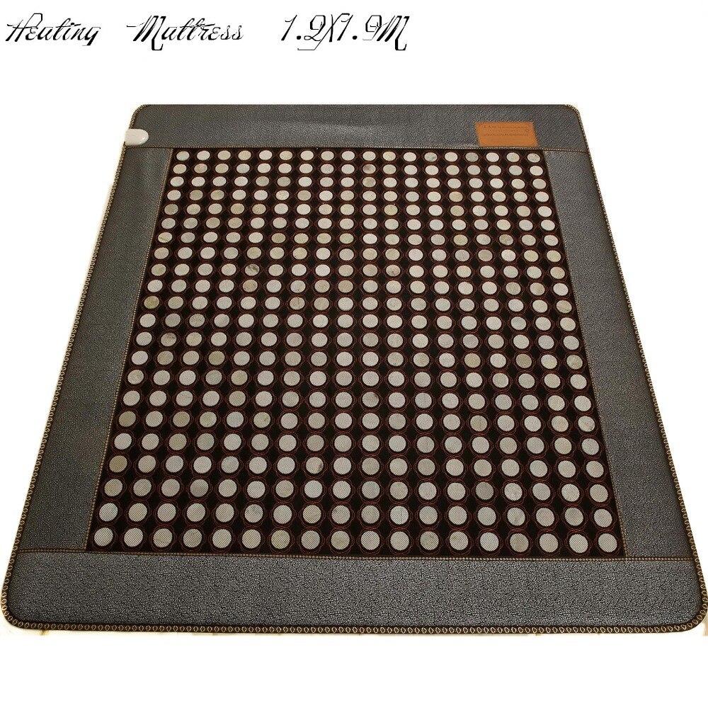 2017 Digital Display Natural thermal heating jade mattress Health Care sleeping Cushion Tourmaline Infrared Heat Mat 1.2X1.9M