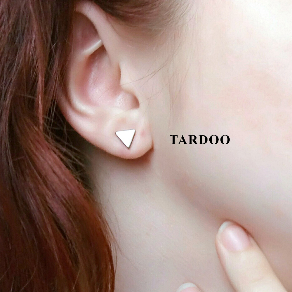Tardoo Really 925 Sterling Silver Stud Earrings for Women Geometric Triangle Shape Simple and Cute Style Fine Jewelry цены онлайн