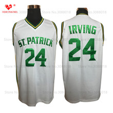 ФОТО Whole St Patric HS 24 Kyrie Irving Jersey Throwback Basketball Jersey Vintage Retro Basket Shirt  Men Stitched