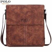 VICUNA POLO Vintage Panelled Men Messenger Bag Personality Contrast Color Crossbody Shoulder Bag For Man Business