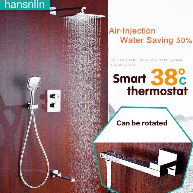 Thermostatic Shower head Showerhead set rain shower system air ...
