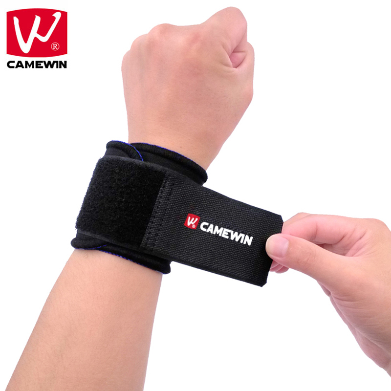 CAMEWIN Adjustable Wrist Support Brace Wristband 1 Pair Professional Sports Protection Wristbands Black Color For Men and Women adjustable sport magnetic keen protection pad brace black