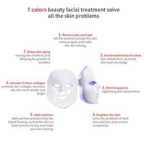 Image 4 - יופי פוטון LED פנים מסכת טיפול 7 צבעים אור טיפוח עור התחדשות קמטים אקנה הסרת פנים יופי ספא מכשיר