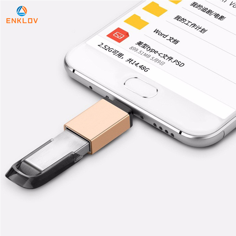 Micro OTG Cable Type C USB To USB 3.0 Data Adapter For  Huawei P20 Pro Macbook Oppo One Plus 6 Xiaomi Samsung S9 Otg Converter