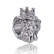 523092c08 free shipping silver lion king of jungle european big hole bead CHARM Fits  European Pandora Charm Bracelets A009