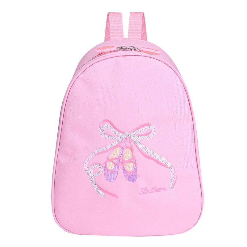 Girls Ballet Dance Backpack Clase Bags Shoulder Sports Bag for Dancing Class Kids Embroidered Toe Shoes School Gym Ballet Bag