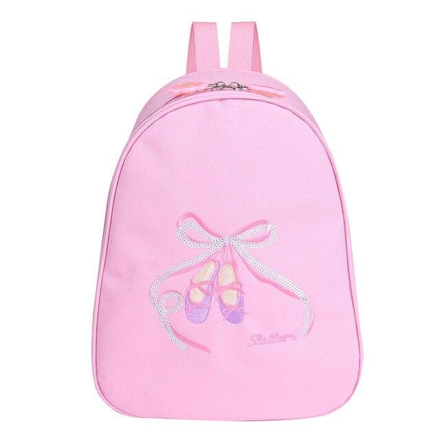 cbd536b70457 Girls Ballet Dance Backpack Clase Bags Shoulder Sports Bag for Dancing  Class Kids Embroidered Toe Shoes School Gym Ballet Bag