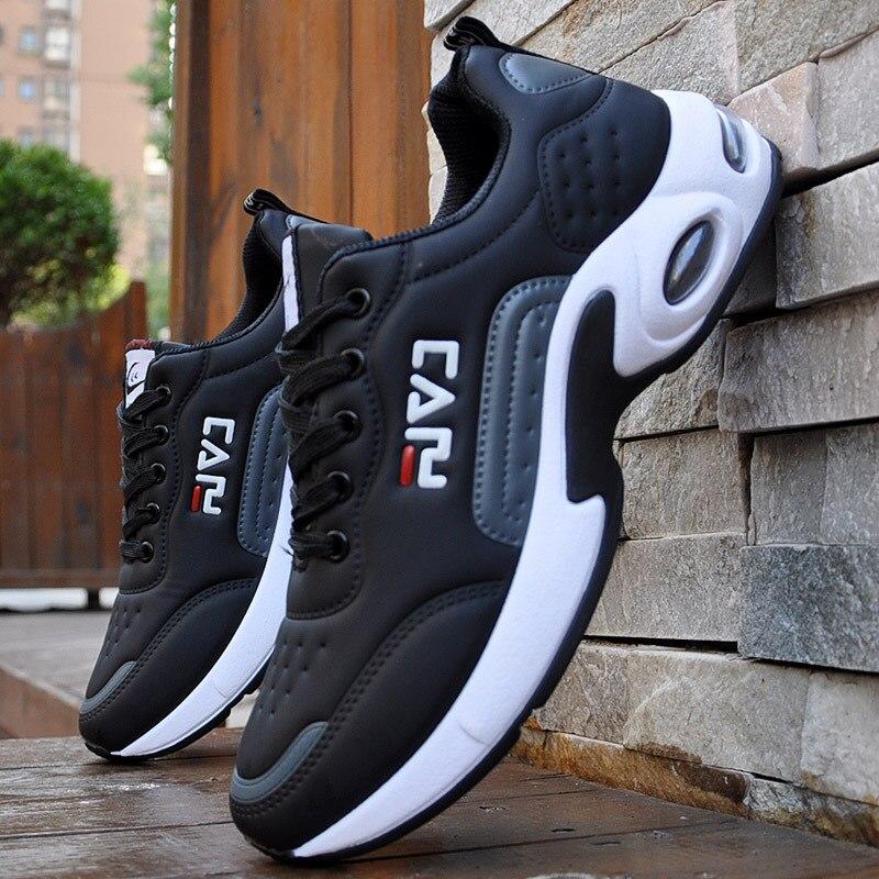 Automne hommes baskets respirant travail chaussures décontracté Sport chaussures en plein Air marche chaussures coussin d'air mâle chaussures Zapatos Hombre Sapatos