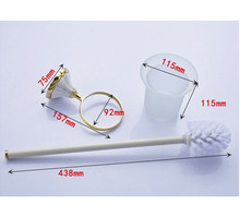 White and Gold Color Bathroom Toilet Brush Holder Bathroom Products Bathroom Accessories