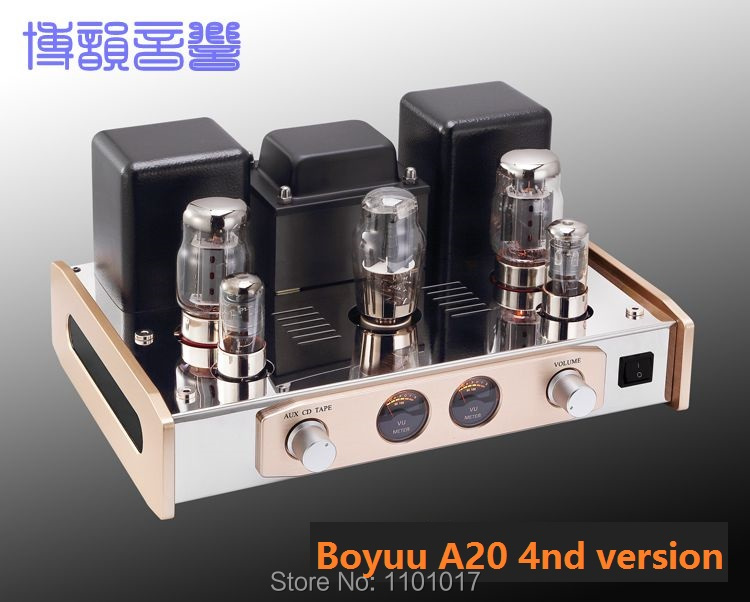 Boyuu A20 KT88 wzmacniacz lampowy HIFI EXQUIS Reisong Single ended 6550 lampa Integred Amp najnowszej wersji BYA204 w Wzmacniacz od Elektronika użytkowa na  Grupa 1