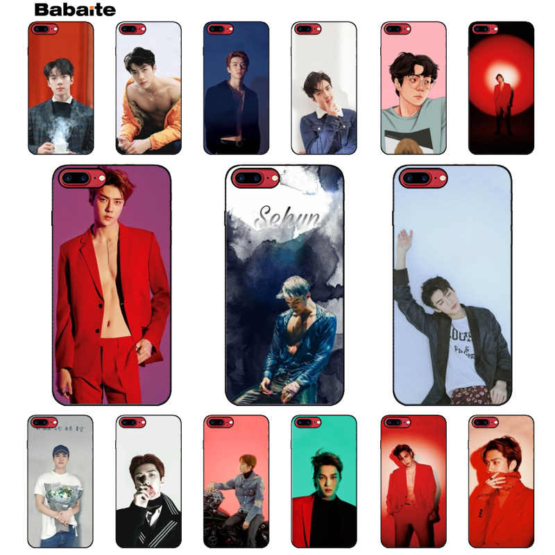 Babaite EXO sehun Coque Popular Cell Phone Case Cover for iPhone 6 6s 8 8Plus 5 5S SE 7 7plus XRX XS MAX shell