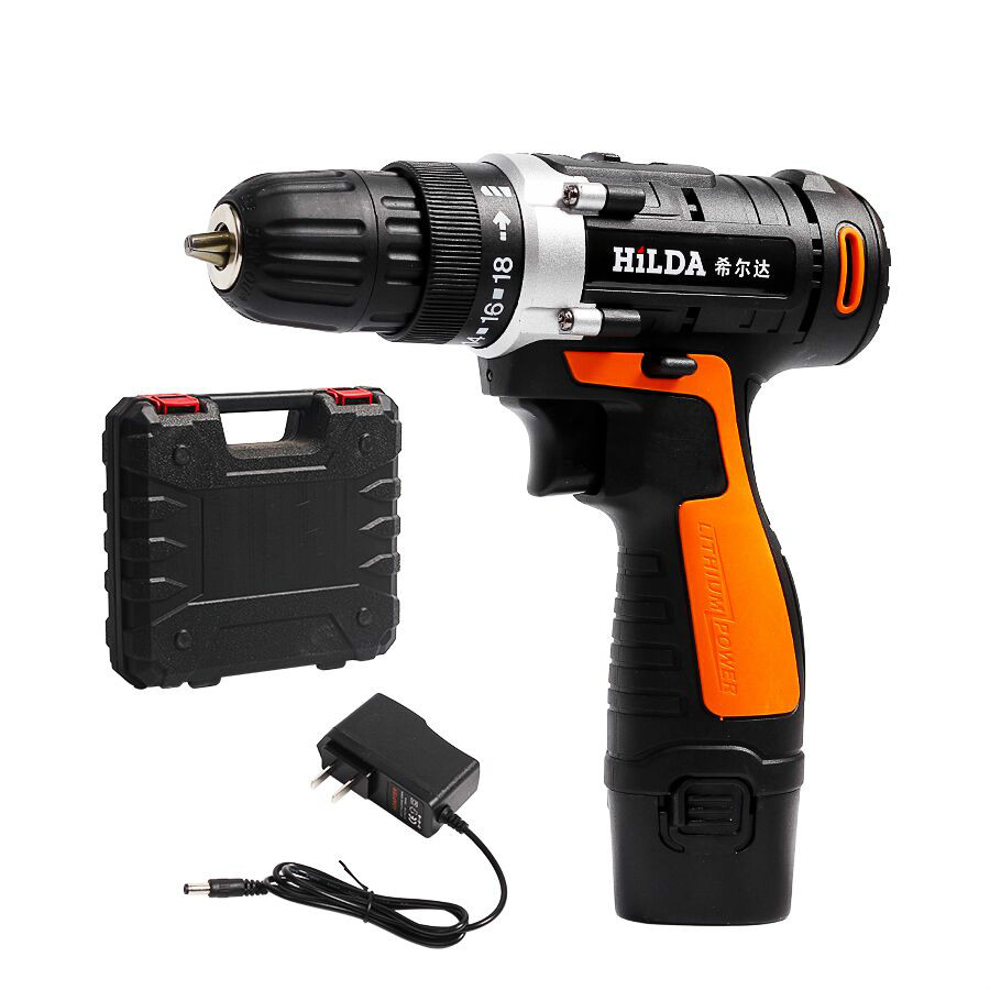 Cordless drill screwdriver Lithium Battery Electric Drill Furadeira Cordless Screwdriver with Plastic case Power Tools