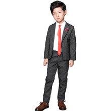 Brand Boys Wedding Suit Kids Formal Blazer Pants 2Pcs Set Ne