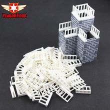 50Pcs MOC Garden Fence Blocks DIY Building font b Toys b font Blocks Baseplate Min Bricks