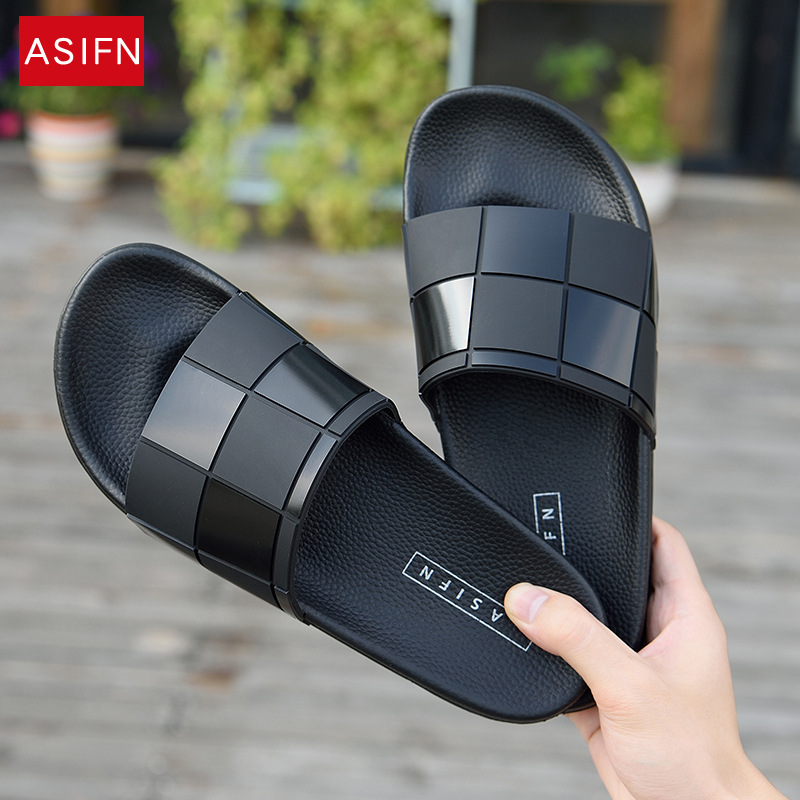 ASIFN Men Slippers Mosaic Lattice Flip Flops Women Summer Slides Male Type Couple Beach Shoes Home Zapatos Mujer Wholesale